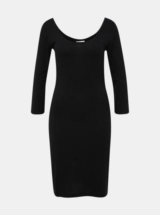Čierne púzdrové basic šaty VILA Susinta