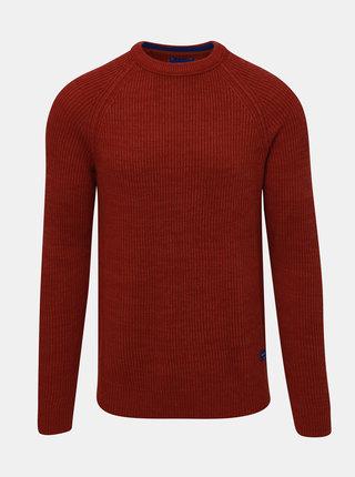 Červený sveter Jack & Jones Pannel