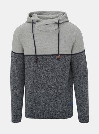 Modro-šedý žíhaný sveter Jack & Jones Brayson