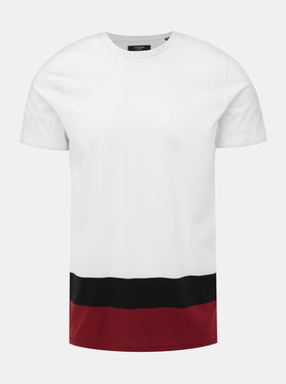 Biele slim fit tričko Jack & Jones Terrance