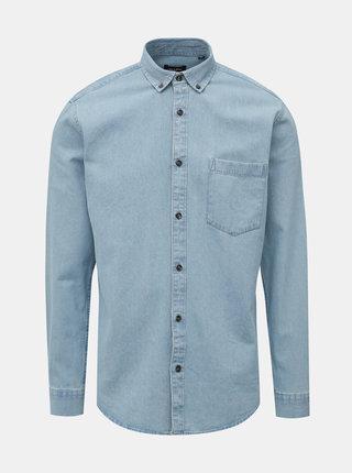 Svetlomodrá slim fit rifľová košeľa ONLY & SONS Basic