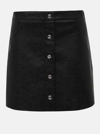 Černá koženková sukně ONLY Asha