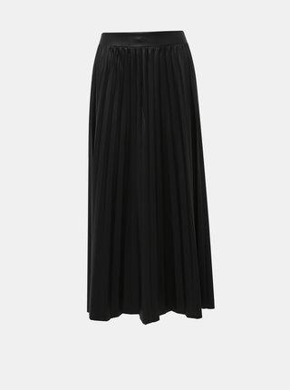 Čierna plisovaná maxi sukňa ONLY Anina