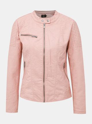 Světle růžová koženková bunda ONLY Megan