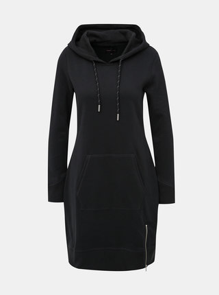 Černé mikinové šaty se zipem ONLY Bree