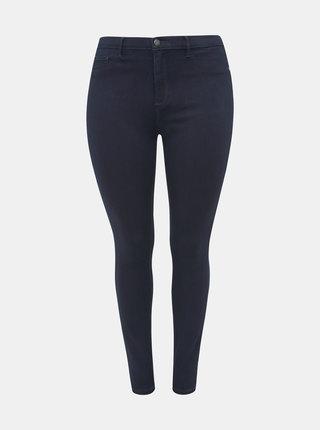 Tmavě modré push up skinny fit džíny ONLY CARMAKOMA Storm