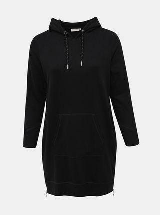 Černé mikinové šaty ONLY CARMAKOMA Lee