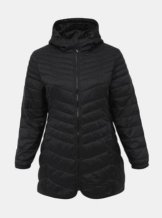 Černá zimní prošívaná bunda ONLY CARMAKOMA Demi