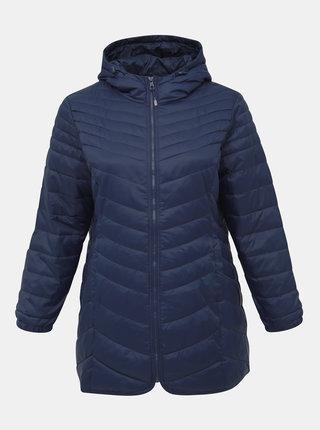 Modrá zimní prošívaná bunda ONLY CARMAKOMA Demi