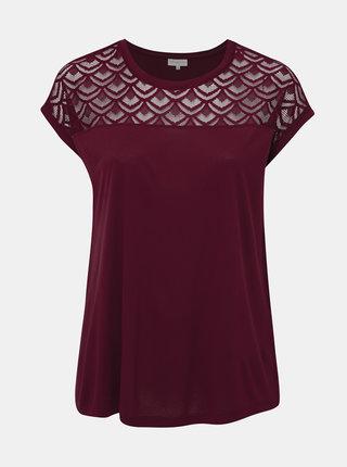 Vínové tričko ONLY CARMAKOMA Flake