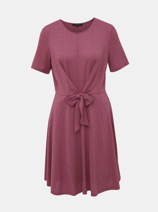 Rúžové žíhané šaty VERO MODA Cira