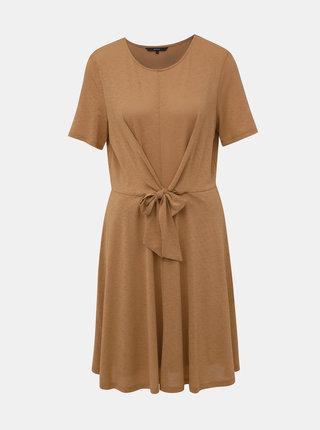 Horčicové žíhané šaty VERO MODA Cira