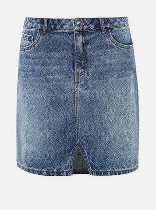 Modrá rifľová sukňa VERO MODA Asla