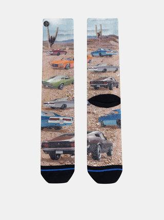 Béžové pánské vzorované ponožky XPOOOS