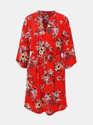 Červené kvetované šaty Jacqueline de Yong Win
