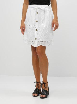 Biela sukňa s madeirou Dorothy Perkins