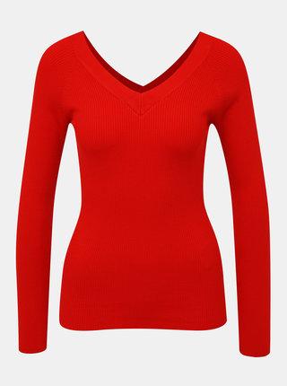 Červený žebrovaný svetr Jacqueline de Yong Pippa
