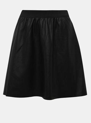Černá koženková sukně Jacqueline de Yong Stella