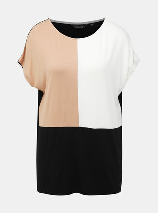 Hnedo-čierne tričko Dorothy Perkins