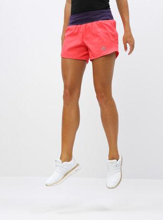 Rúžové dámske funkčné kraťasy adidas Performance