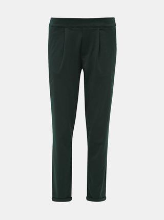 Tmavě zelené zkrácené kalhoty Jacqueline de Yong Darling