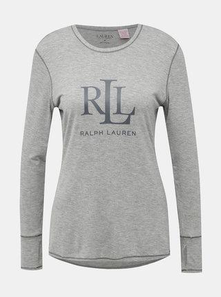 Šedé dámské pyžamové tričko s potiskem Lauren Ralph Lauren