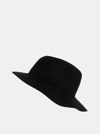 Černý vlněný klobouk Pieces Hiranu
