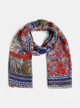Červeno-modrý vzorovaný šátek Haily´s