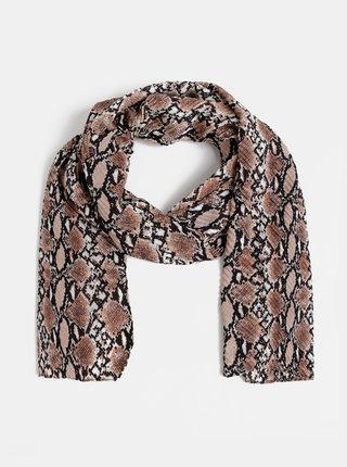 Hnědý šátek s hadím vzorem Haily´s
