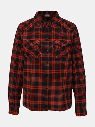Černo-červená kostkovaná dámská košile Noisy May Erik