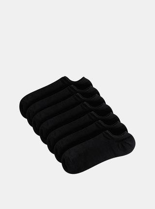Sada sedmi párů nízkých černých ponožek TALLY WEiJL