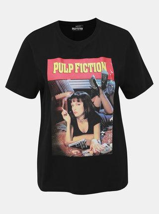 Čierne tričko s potlačou TALLY WEiJL Pulp Fiction
