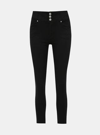 Černé dámské zkrácené slim fit džíny Haily´s Myra