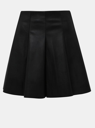 Čierna koženková sukňa TALLY WEiJL