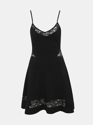 Černé šaty s krajkou TALLY WEiJL