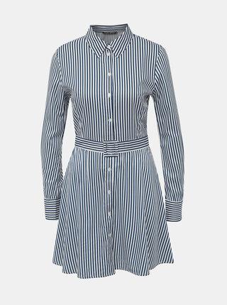 Bílo-modré pruhované košilové šaty TALLY WEiJL