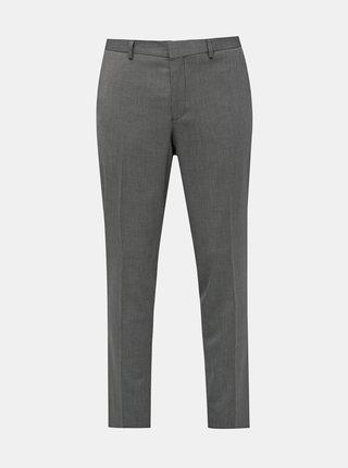 Šedé oblekové vzorované slim fit nohavice Selected Homme Logan