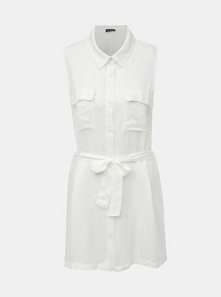 Biela dlhá košeľa bez rukávovTALLY WEiJL