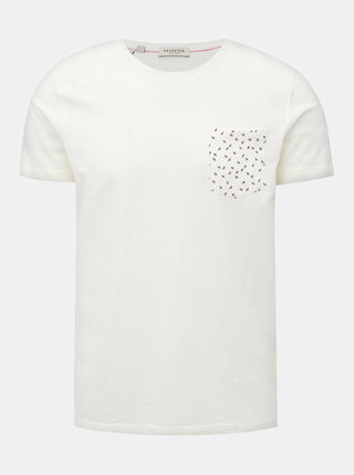Biele tričko Selected Homme Jorn