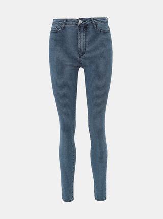 Modré pruhované skinny fit džíny TALLY WEiJL