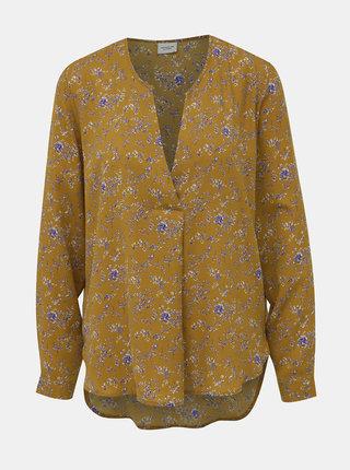 Horčicová kvetovaná blúzka Jacqueline de Yong Zoey