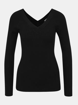 Čierny rebrovaný sveter Jacqueline de Yong Pippa