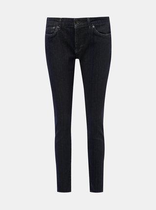 Tmavě modré dámské skinny fit džíny se sametovými pruhy Pepe Jeans Pixie