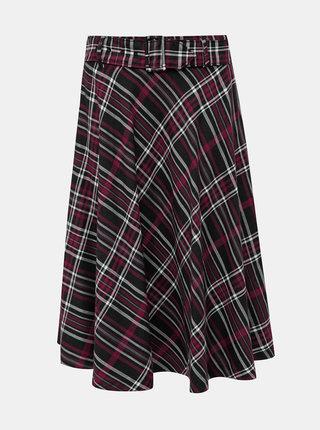 Čierna károvaná sukňa Pepe Jeans Xuxi