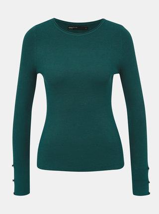 Zelený svetr s průstřihy na rukávech ONLY Liza