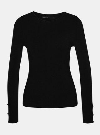 Černý svetr s průstřihy na rukávech ONLY Liza