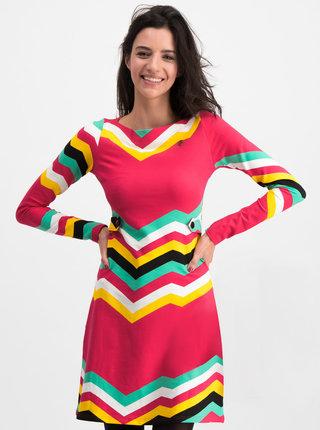 Tmavoružové vzorované šaty Blutsgeschwister Farewell Summer