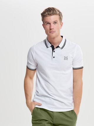 Bílé polo tričko ONLY & SONS Stan