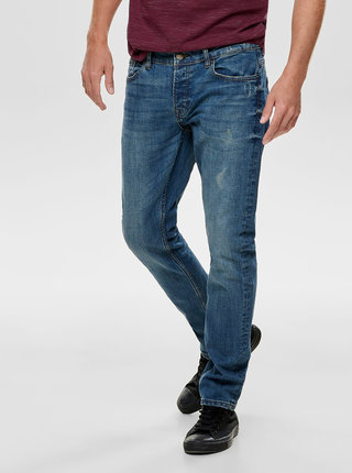 Modré slim fit džíny Jack & Jones Loom