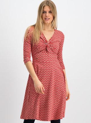 Červené vzorované šaty Blutsgeschwister Cold Days
